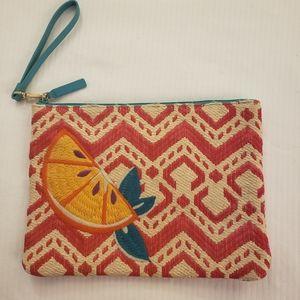 Vera Bradley Straw Weave Beach Wristlet
